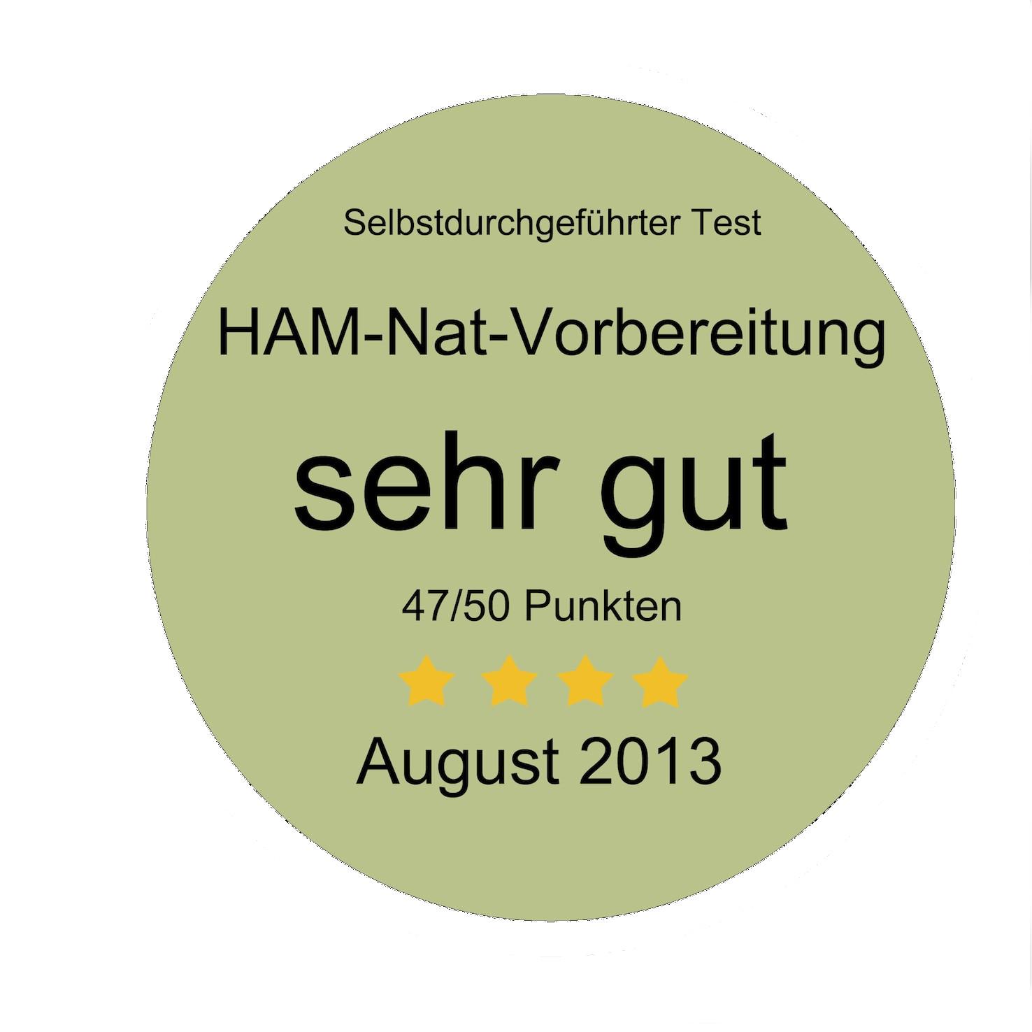 HAM-Nat-Test Bewertung